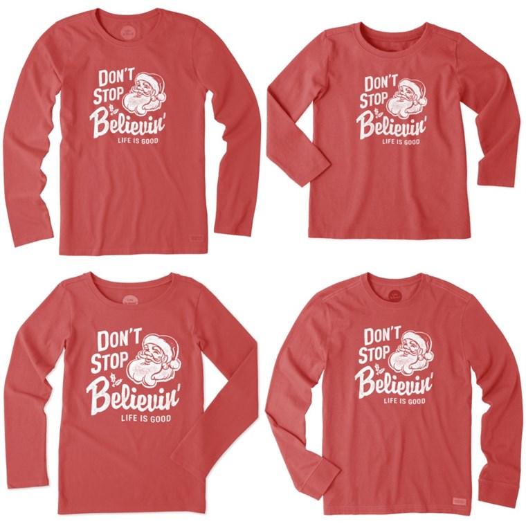 T-shirt-Adulti DONNA TAGLIE BAMBINI Natale personalizzata con il nome di famiglia