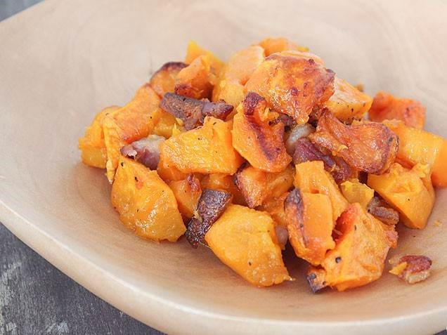 Panggang butternut squash with bacon