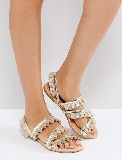Adil Play Ruffle Flat Sandals