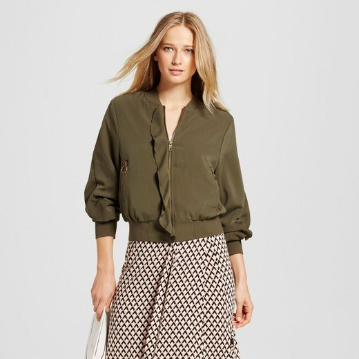 Siapa What Wear Ruffle Bomber Jacket