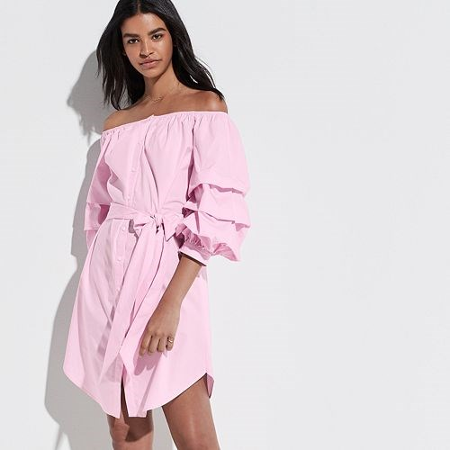 K/Lab Pink Ruffled Dress