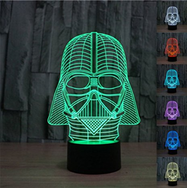 3D Star Wars Darth Vader USB Touch Button LED Desk Table Light Lamp