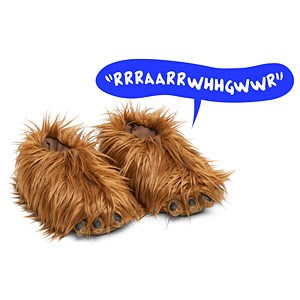 Bintang Wars Chewbacca Slippers with Sound