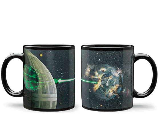 Bintang Wars Death Star Heat Change Mug