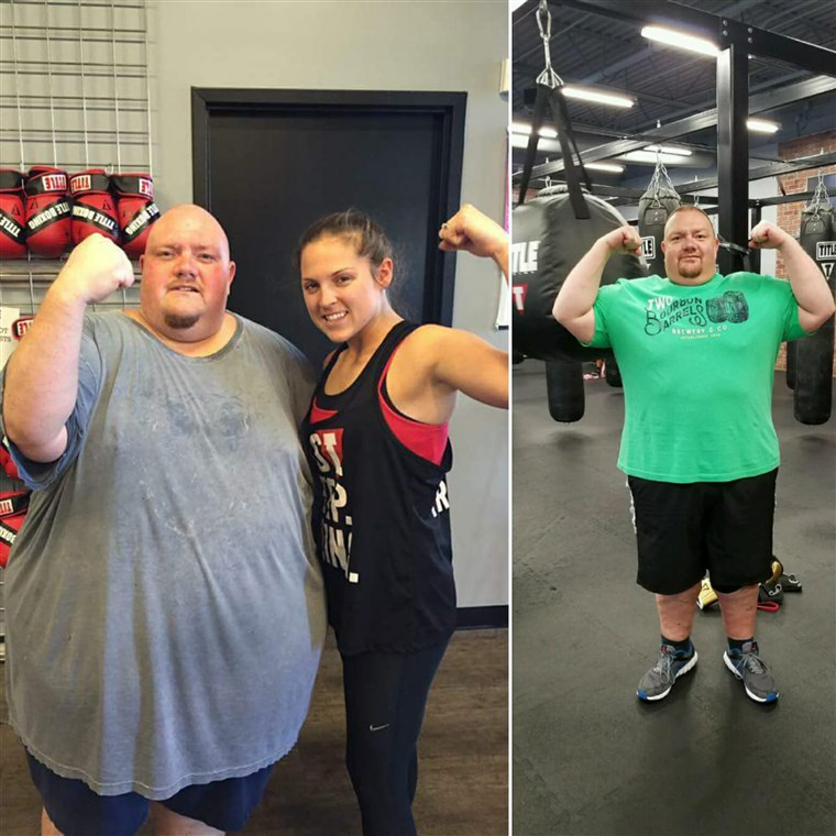 에서 almost 600 pounds, Mike Powers' health was failing. In only 15 months he has shed 250 pounds.