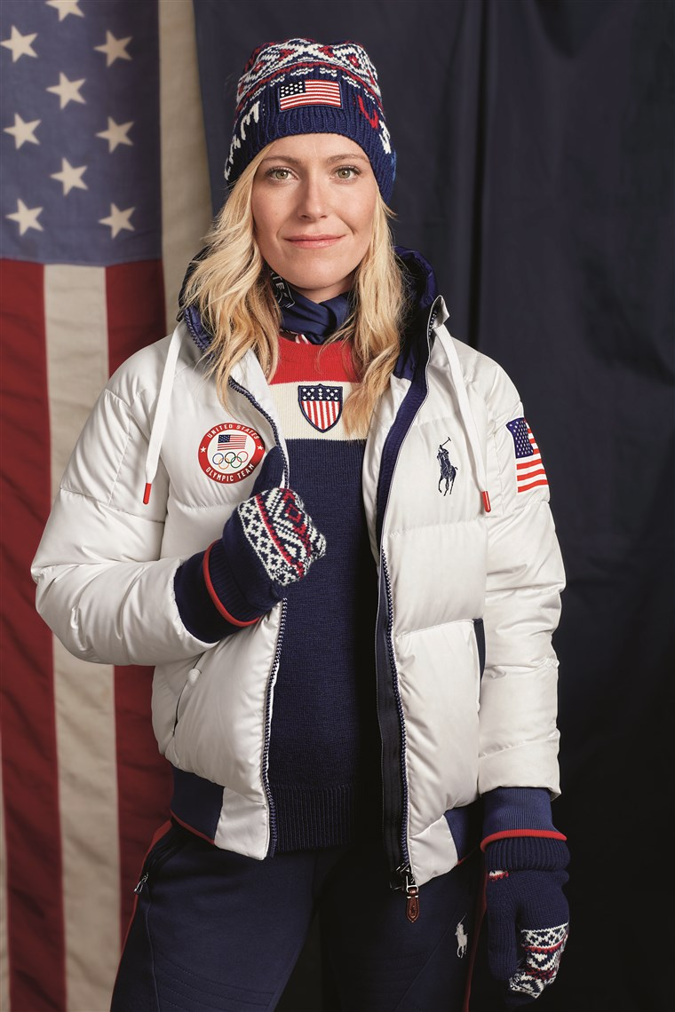 Olimpiade Jamie Anderson models Team USA's official closing ceremony uniform for the 2018 Winter Games.