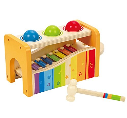Libbra and tap bench with slide out xylophone