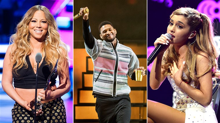 Mariah Carey, Usher And Ariana Grande