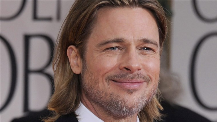 epa03061468 US actor Brad Pitt arrives for the 69th Golden Globe Awards held at the Beverly Hilton Hotel in Beverly Hills, Los Angeles, California, US...