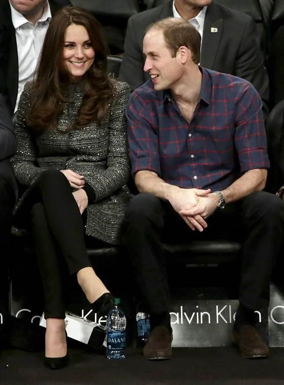 ザ Duke and Duchess of Cambridge, during a Brooklyn Nets NBA game while visiting New York last December.