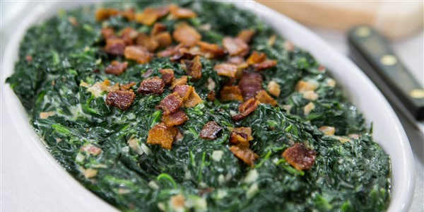 알 Roker's Creamed Spinach with Bacon