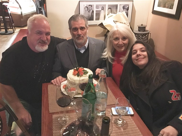 미술 Smith with the Germanottas (aka the Gagas): Lady Gaga's dad Joe, mom Cynthia and sister Natali.