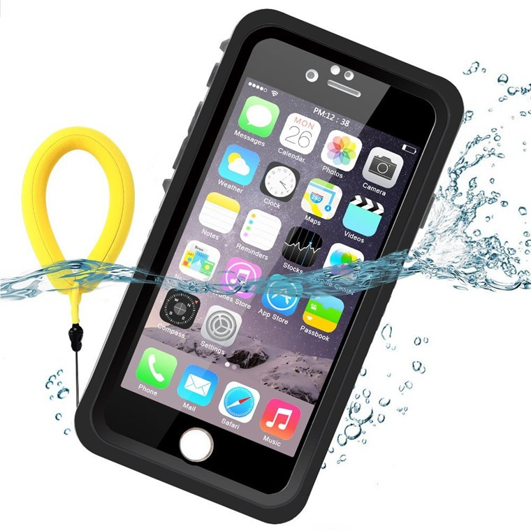 フローティング waterproof case in black
