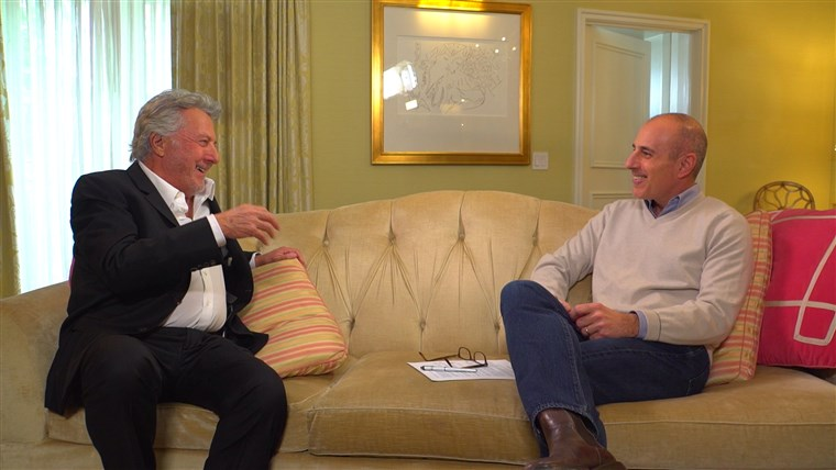 Immagine: Dustin Hoffman speaks with TODAY's Matt Lauer on upcoming role