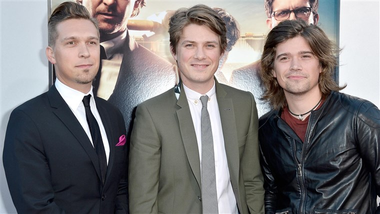 Rekaman artists Issac Hanson, Taylor Hanson and Zac Hanson of Hanson