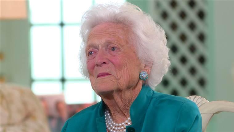 元大統領のバーバラ・ブッシュが92歳で死亡