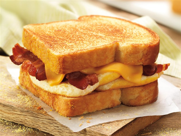 Itu big n' toasted breakfast sandwich is among the items leaving the Dunkin' Donuts menu.