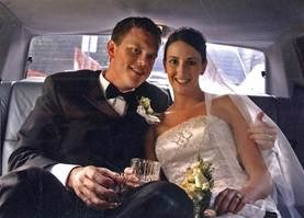Willie Geist and wife on wedding day