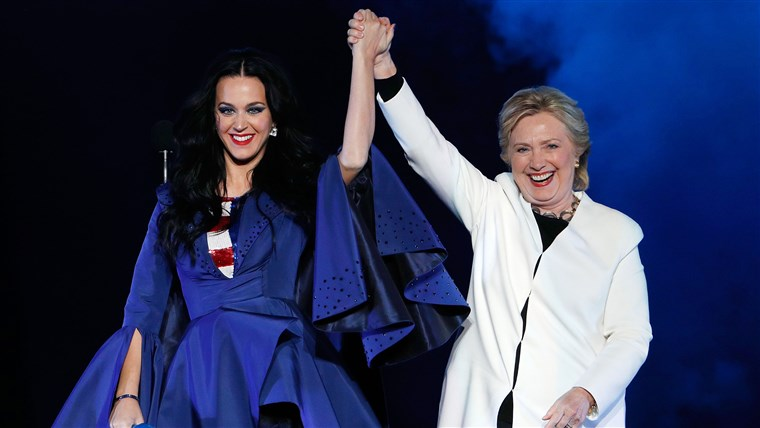 Katy Perry, Hillary Clinton
