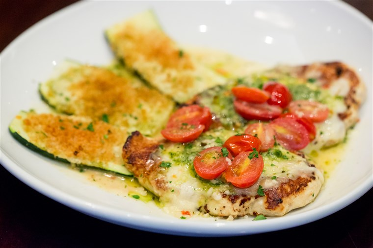 치킨 Margherita - part of Olive Garden's new lighter fare menu
