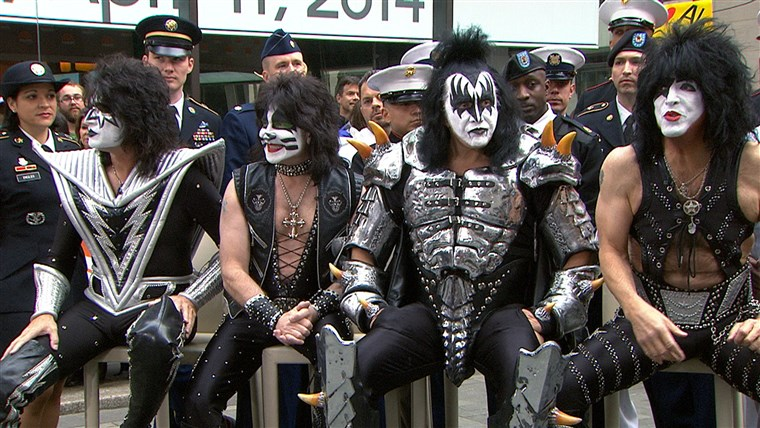 Il members of the legendary KISS dropped by Rockefeller Plaza on TODAY Friday to talk about their new tour and hiring military veterans after being inducted into the Rock and Roll Hall of Fame on Thursday night.