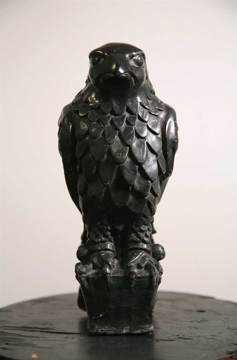 UN fine feathered friend: The original Maltese Falcon, which was featured in the 1941 film noir classic starring Humphrey Bogart.