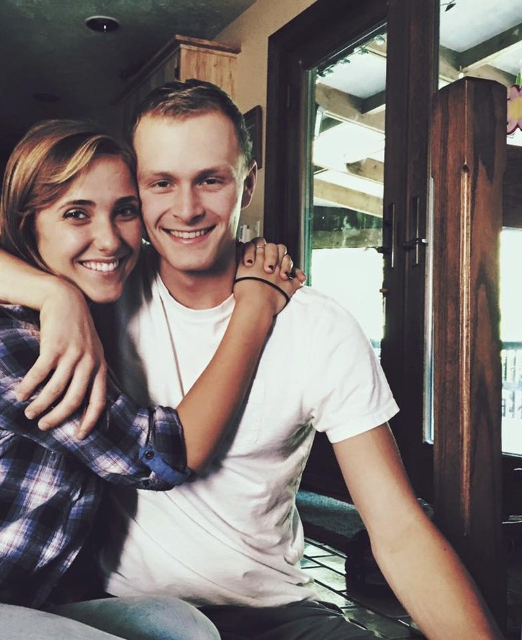 Natalie and Luke Blanock have been together for 2 years.