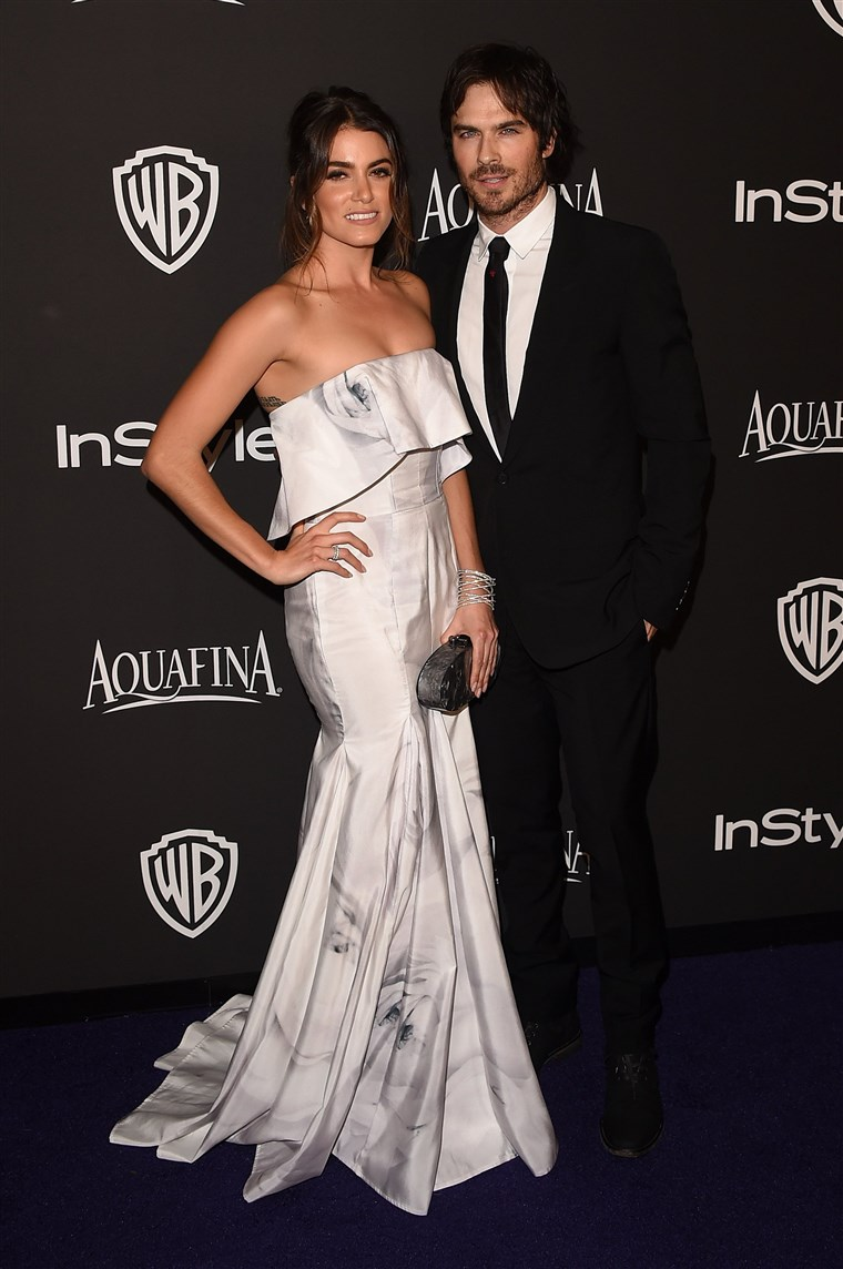Gambar: FILE: Ian Somerhalder And Nikki Reed Marry 2015 InStyle And Warner Bros. 72nd Annual Golden Globe Awards Post-Party - Arrivals