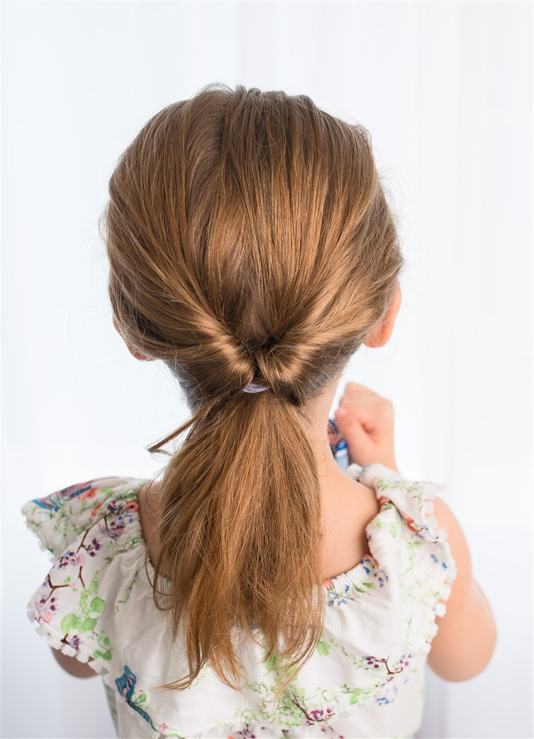 chignon kid's hairstyle