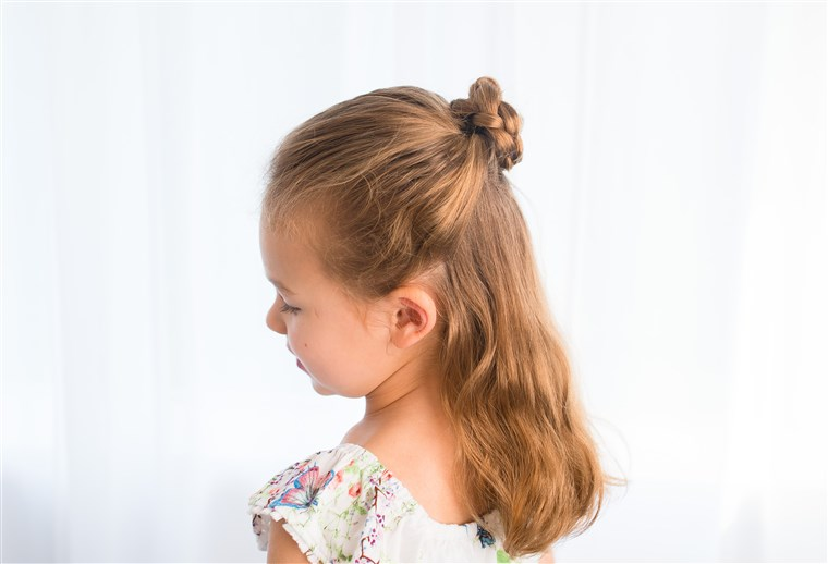 Metà braided up-do for kids