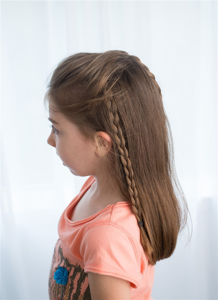 Doppio braid hairstyle for kids