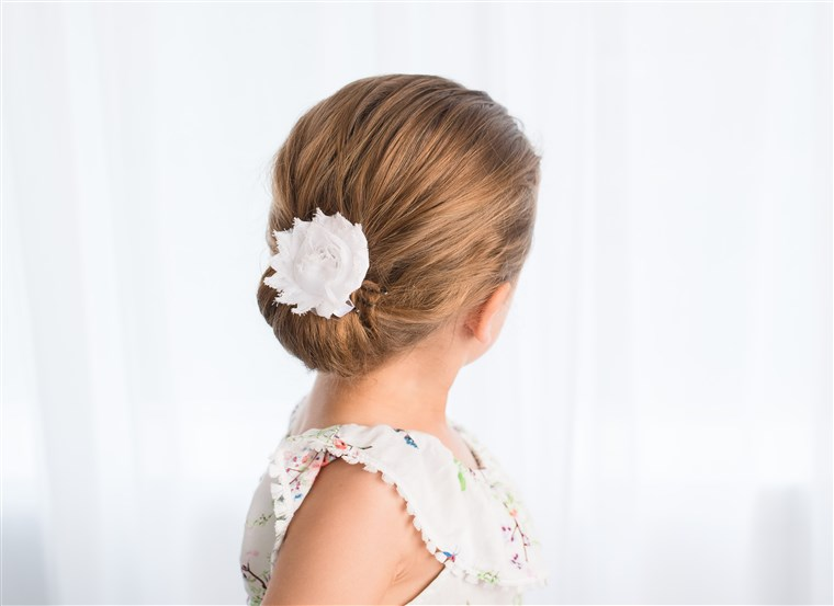 chignon hairstyle for kids