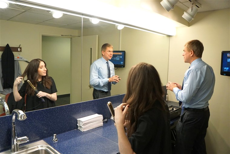 NY1's Pat Kiernan usually does his own makeup in the morning