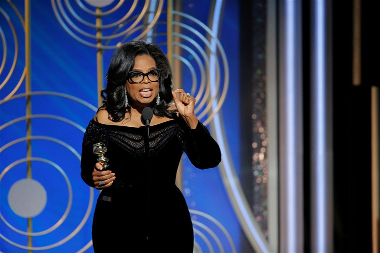 오프라 윈프리 Winfrey speaks after accepting the Cecil B. Demille Award