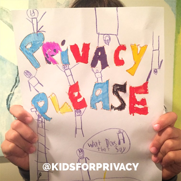 Il @KidsForPrivacy campaign hopes to encourage parents to