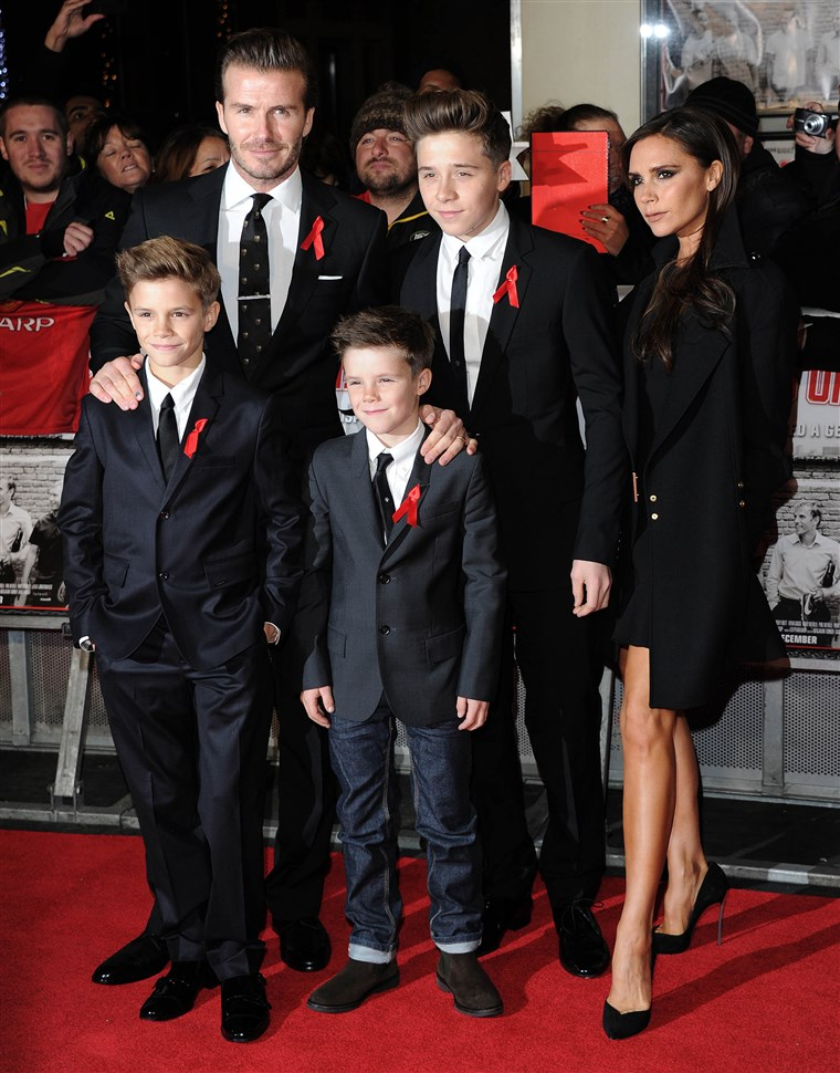 David Beckham, Victoria Beckham and their children