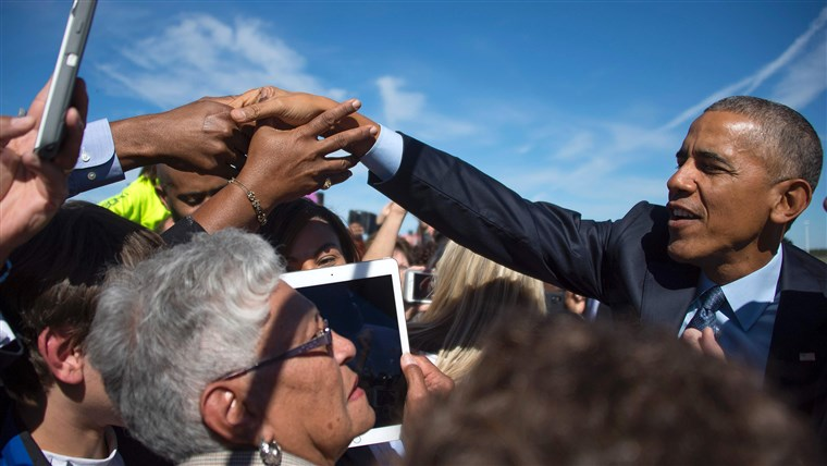 KAMI President Barack Obama greets supporters