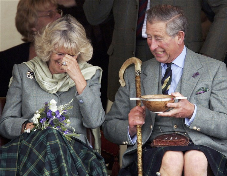 Pangeran Charles, the Prince of Wales, and his wife Camilla