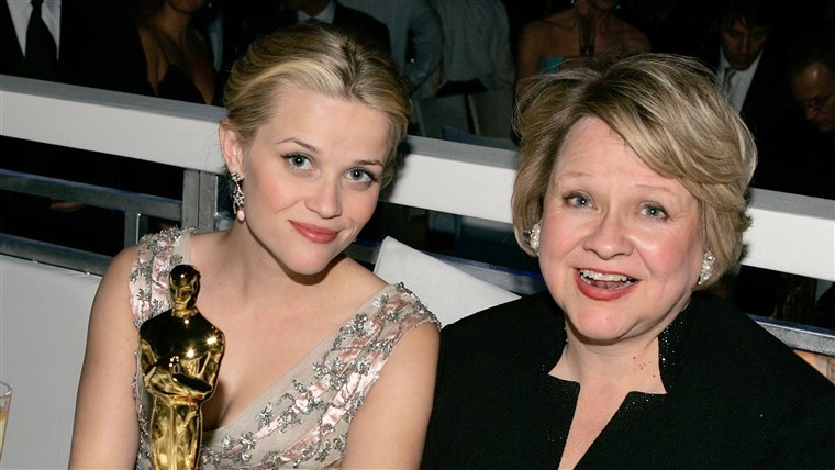HOLLYWOOD - MARCH 5: Actress Reese Witherspoon and mother Betty attend the Governor's Ball after the 78th Annual Academy Awards at The Highlands on M...