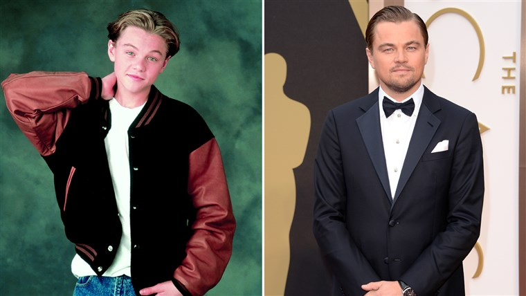 레오나르도 DiCaprio then and now