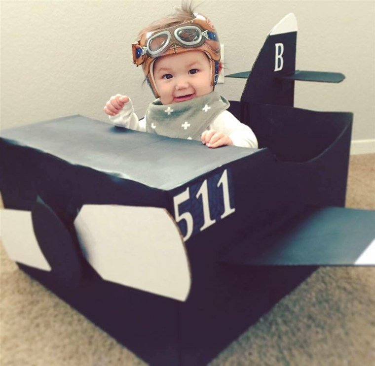 Landee Tim first chose a pilot-themed helmet for her son, Henry, as her grandfather was a pilot in the Korean War.
