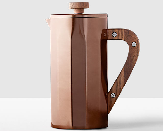 Starbucks Stainless Steel Coffee Press With Walnut Handle - Copper