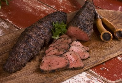 Mesquite Smoked Peppered Beef Tenderloin