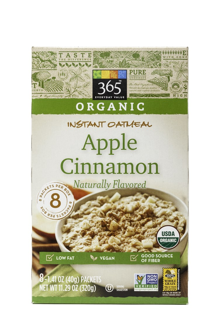 완전한 Foods 365 Everyday Apple Cinnamon Instant Oatmeal