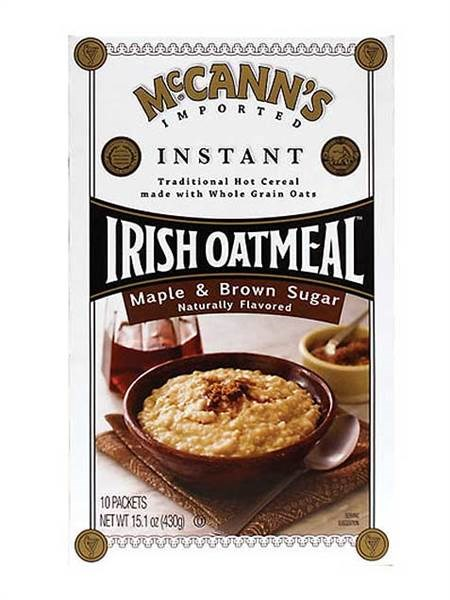 맥캔's maple and brown sugar instant oatmeal