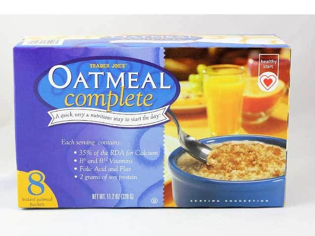 상인 Joe's plain oatmeal