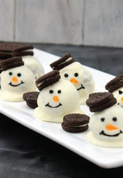 クリスマス cookies: Melting snowman cookie balls