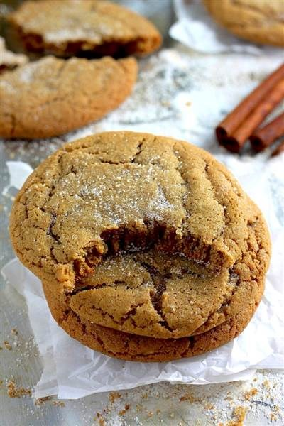クリスマス cookies: Brown butter gingersnaps