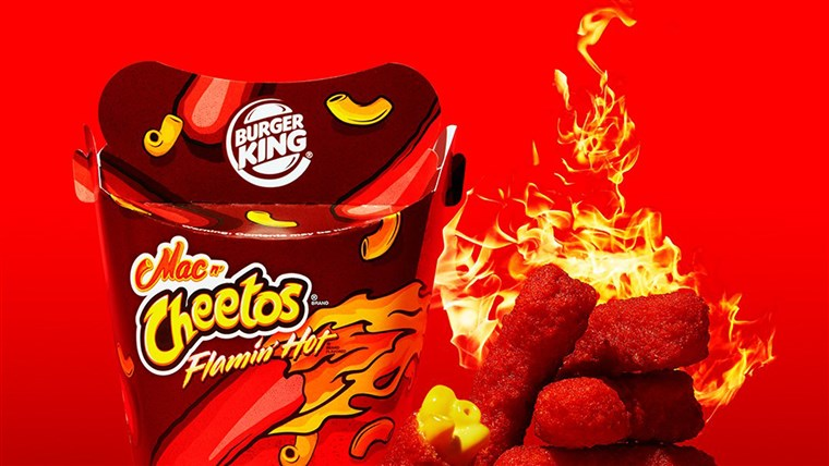フラミン' hot cheetos Burger King