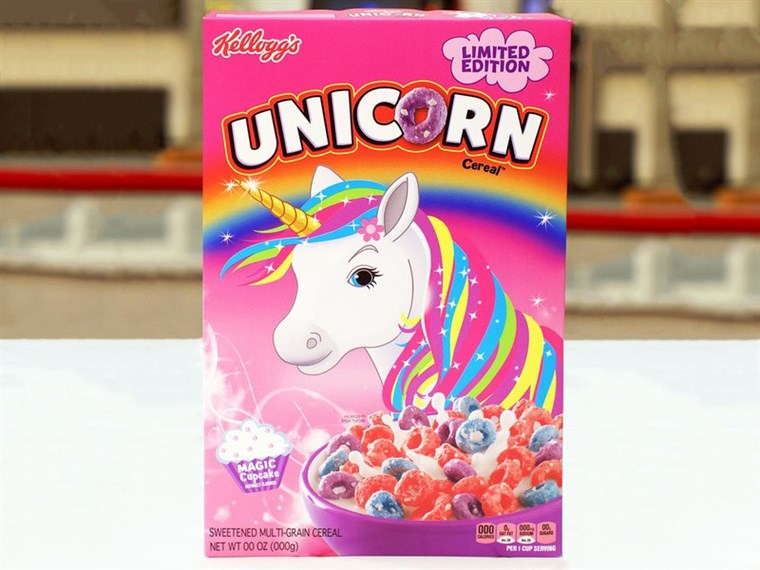 ケロッグ's new Unicorn Cereal